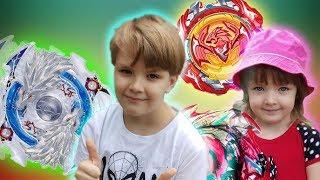 Никитос в Шоке! Нашел в снегу замороженный бейблейд!/видео для детей