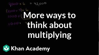 More Ways To Think About Multiplying