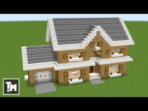 minecraft how to build a large modern house tutorial 2017