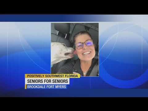 Shelter dog visits retirement center in Senior for Senior program