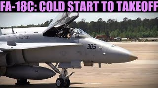 FA-18C Hornet: Cold Start, Taxi & Takeoff Tutorial | DCS WORLD