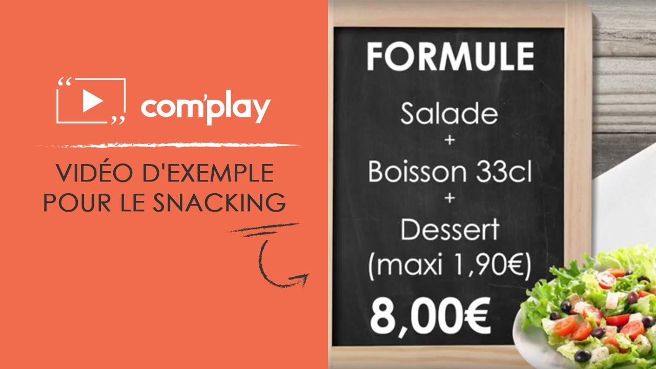 Image YouTube Affichage dynamique : exemple de diffusion pour le snacking