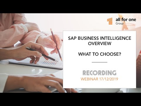 SAP Business Intelligence – overview. What to choose?