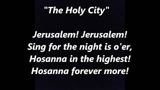 The Holy City Jerusalem song LYRICS WORDS BEST TOP PALM SUNDAY EASTER TRENDING Religious  SING ALONG