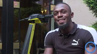 Usain Bolt unveils his electric scooter brand 'Bolt' in Paris