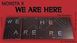 MONSTA X  Unboxing 몬스타엑스 언박싱 Take.2 'WE ARE HERE' [Full Versions]