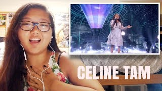 """Celine Tam: 9 Year Old Stuns The Audience With """"How Far I'll Go"""" - AGT 2017 REACTION!!!"""