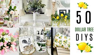 🍋~NEW~50 DIY DOLLAR TREE CRAFTS 2020 🍋 AWESOME SPRING SUMMER IDEAS!! Olivias Romantic Home DIY