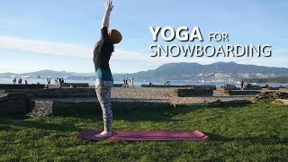 Yoga Warm Up For Snowboarding!