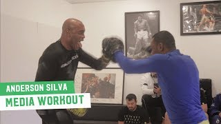 Anderson Silva Full Work Out | UFC Media Day
