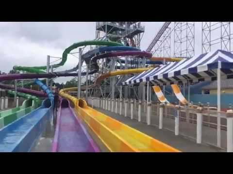 Another view of Cedar Point Shores Water Park in Sandusky. (видео)