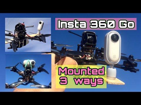 One Camera / One Quad / Mounted 3 Ways / Insta 360 Go / Diatone GTB5