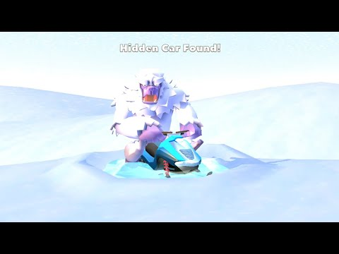"Crash Of Cars - Hidden Car ""Snowmobile"" Found In Winterland!"