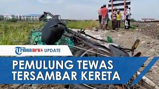 Pemulung Tewas Tersambar Kereta Barang di Kelurahan Tugurujo Semarang, Roda Depan Sepedanya Lepas