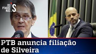 Roberto Jefferson acolhe Daniel Silveira no PTB
