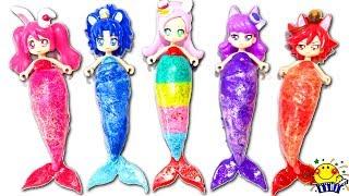 プリキュアアラモードがキラキラ人魚姫に変身❤︎アンパンマンおもちゃのねんどで手作り衣装♪まるでプリンセス⁉︎お姫様みたい❤︎MermaidprincessplaydohたまごMammy