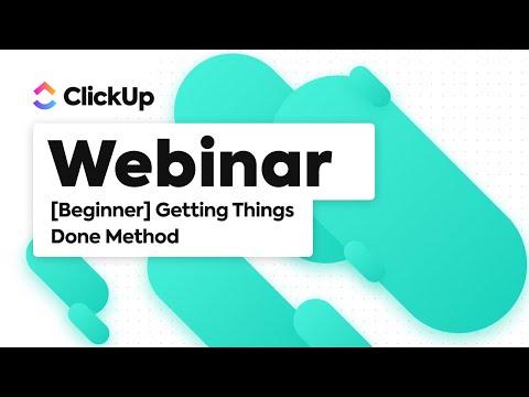 Getting Things Done (GTD) Beginner Webinar - YouTube