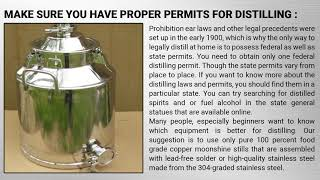 Important Things to Know AboutMoonshine Stillsand Its Safety