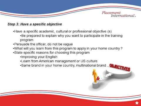 U S  EMBASSY INTERVIEW | Placement International