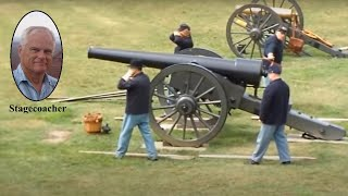 Firing the 30-pounder rifled Parrott cannon at Fort Pulaski, GA