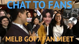 GOT7 Fan Meet Melbourne - Chatting with Fans