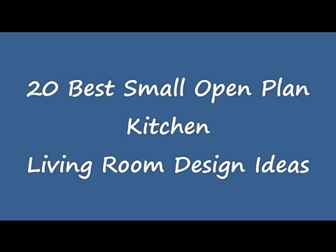very small open plan kitchen living room ideas