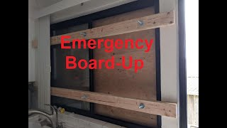 Emergency Board-Up of Your Sliding Windows and Doors