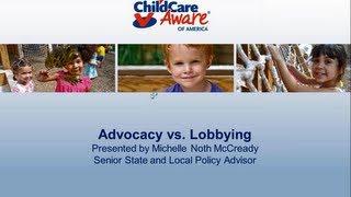 Advocacy vs  Lobbying