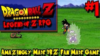 AMAZINGLY MADE DBZ FAN MADE GAME! | Dragon Ball Z: Legend of Z RPG - Episode 1