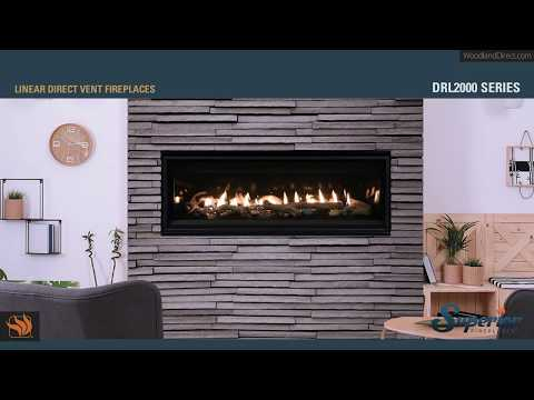 Superior DRL2000 Direct Vent Linear Gas Fireplace