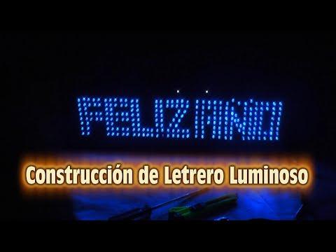 FELIZ AÑO -  Construccion de Letrero Luminoso con secuencia en Anillo