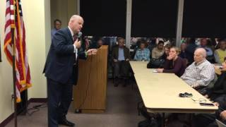 Morris County Sheriff James Gannon speaks at meeting on immigration