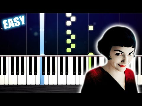 Yann Tiersen - La valse d'Amélie - EASY Piano Tutorial by PlutaX