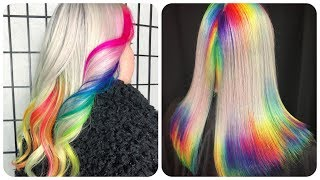 Colorful Hair Ideas 💙Rainbow Color Hair Transformation! Hairstyle Tutorials Compilations #17
