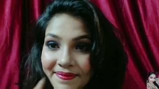 Blue Dress Makeup Look (हिंदी में)