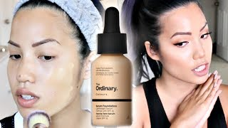 NEW DAILY GO TO FOUNDATION? | THE ORDINARY SERUM FOUNDATION