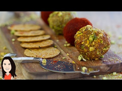 Pistachio & Smoked Paprika Vegan Cheese Balls - Easy Dairy Free Nut Cheese Recipe!
