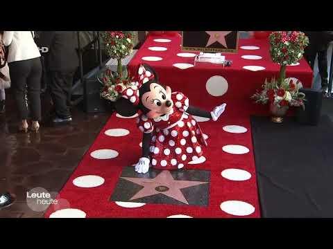 Minnie Mouse - 90. Geburtstag, Stern auf Walk of Fame, Pünktchen-Kleid, Katy Perry,  Heidi Klum