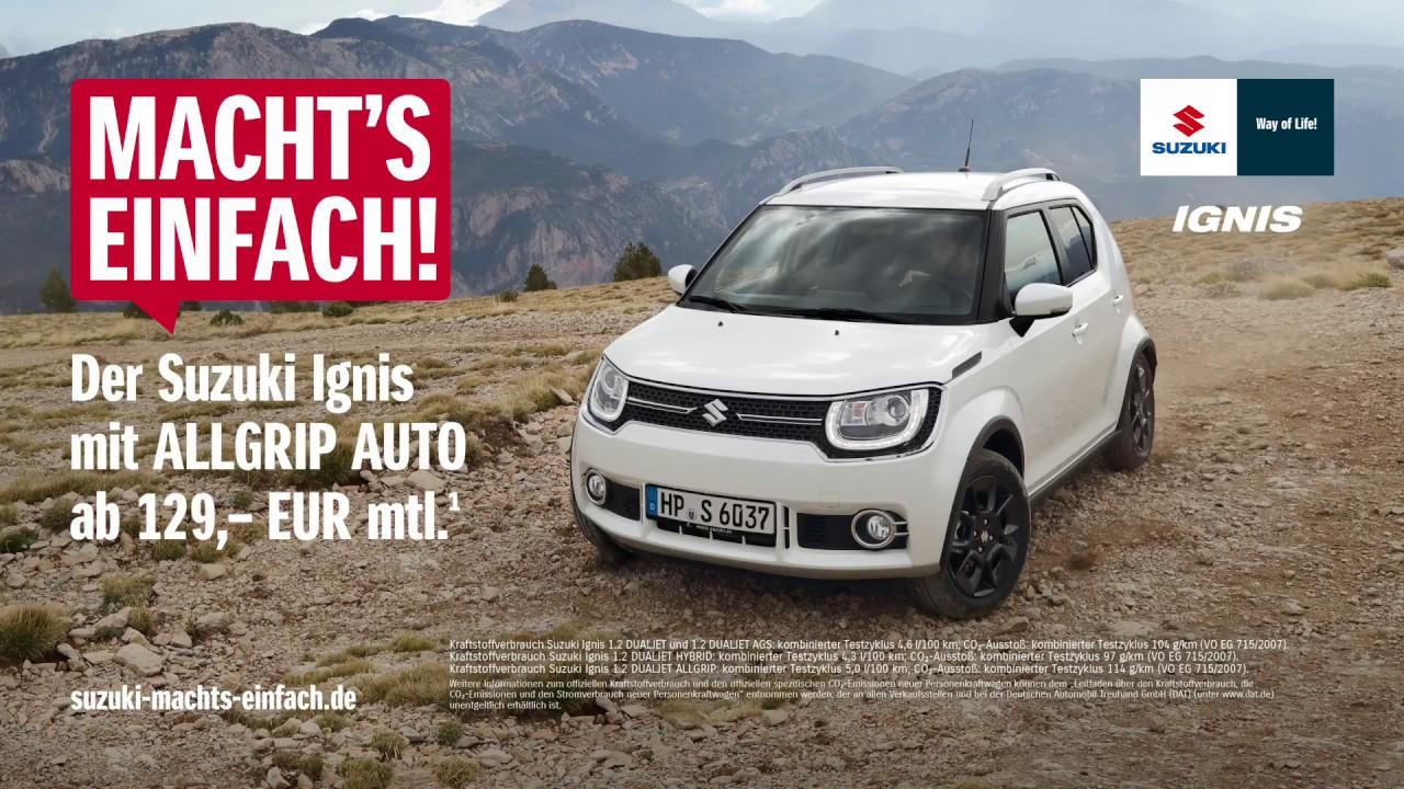 Der Suzuki Ignis mit ALLGRIP AUTO Allradantrieb – ab 129,- EUR im Monat*