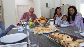 أجواء العيد عندنا مع خطيب سناء و حلوة الغابة السوداء