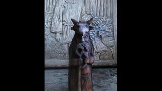 Смотреть онлайн Как сделать статуэтку из дерева своими руками