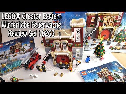 Review LEGO Winterliche Feuerwache (Set 10263 Creator Expert Weihnachtsset)