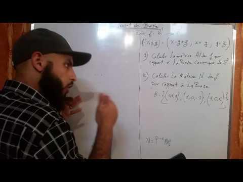 Algebre: Changement de base _ matrice d'une application linéaire