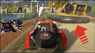 Forza Horizon 4 LP EP3 - FIRST Showcase Event vs HOVERCRAFT! (Fanatec Wheel)| SLAPTrain