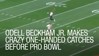 Odell Beckham Jr. makes crazy one-handed catches before Pro Bowl