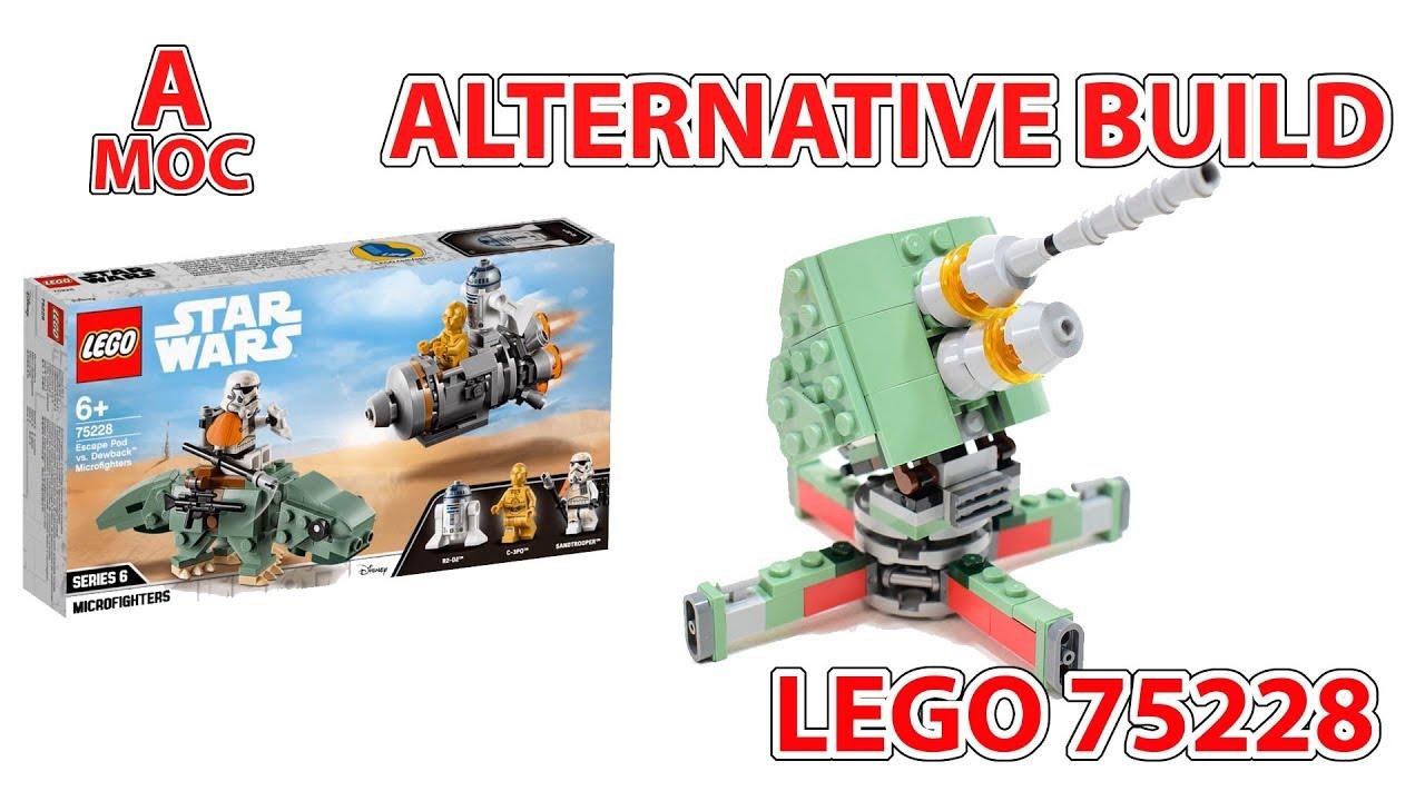 LEGO 75228 Anti-aircraft gun. alternative build star wars review [A MOC]