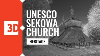 Sękowa – Church of Saint. Filip and Jakub – Laser scanning of monuments on the UNESCO heritage list