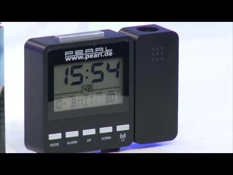 PEARL Funk-Projektionswecker mit Temperaturanzeige