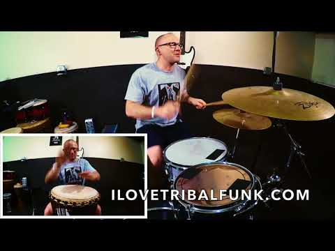 """I enjoy creating drum breaks with drum set and djembe. I call the genre """"Tribal Funk""""."""