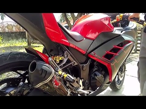 Video Modifikasi Kawasaki Ninja 250 Fi - Aksesoris Bikers Gold